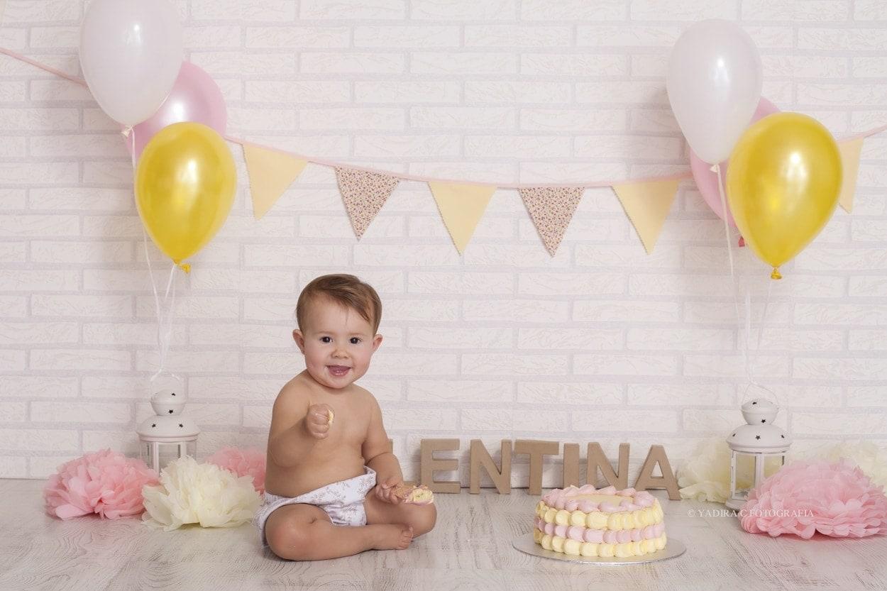 Valentina celebra su primer cumpleaños.