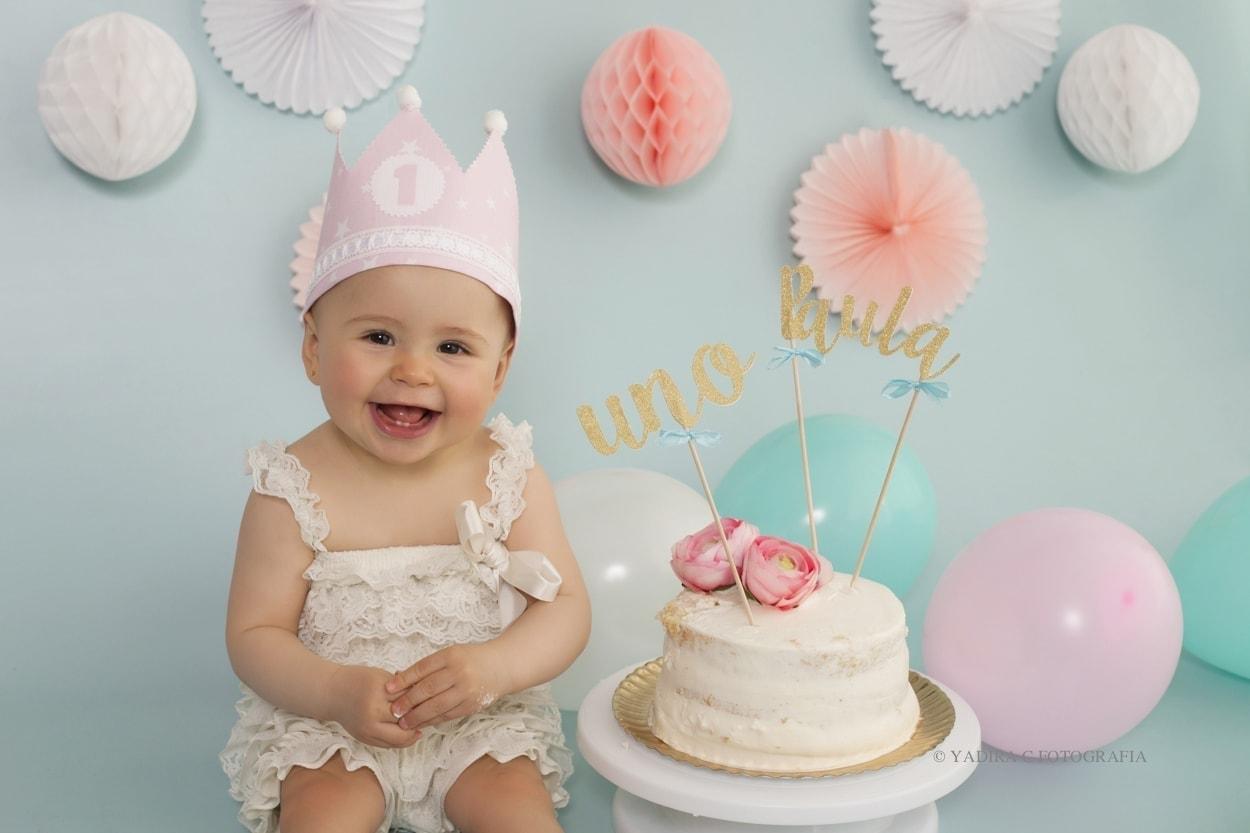 fotografia bebé smash cake cumpleaños torrent valencia