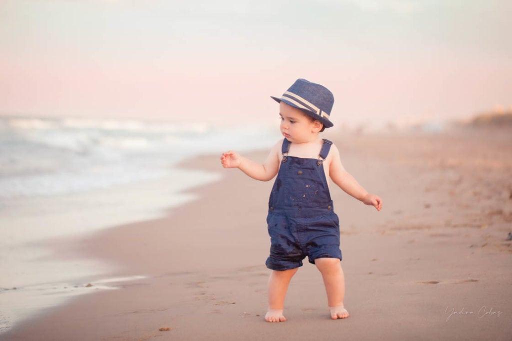 fotografía infantil niños bebe playa valencia